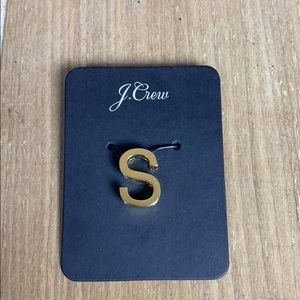 J. Crew Gold-Plated S Charm